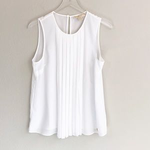Michael Michael Kors Sleeveless White Blouse